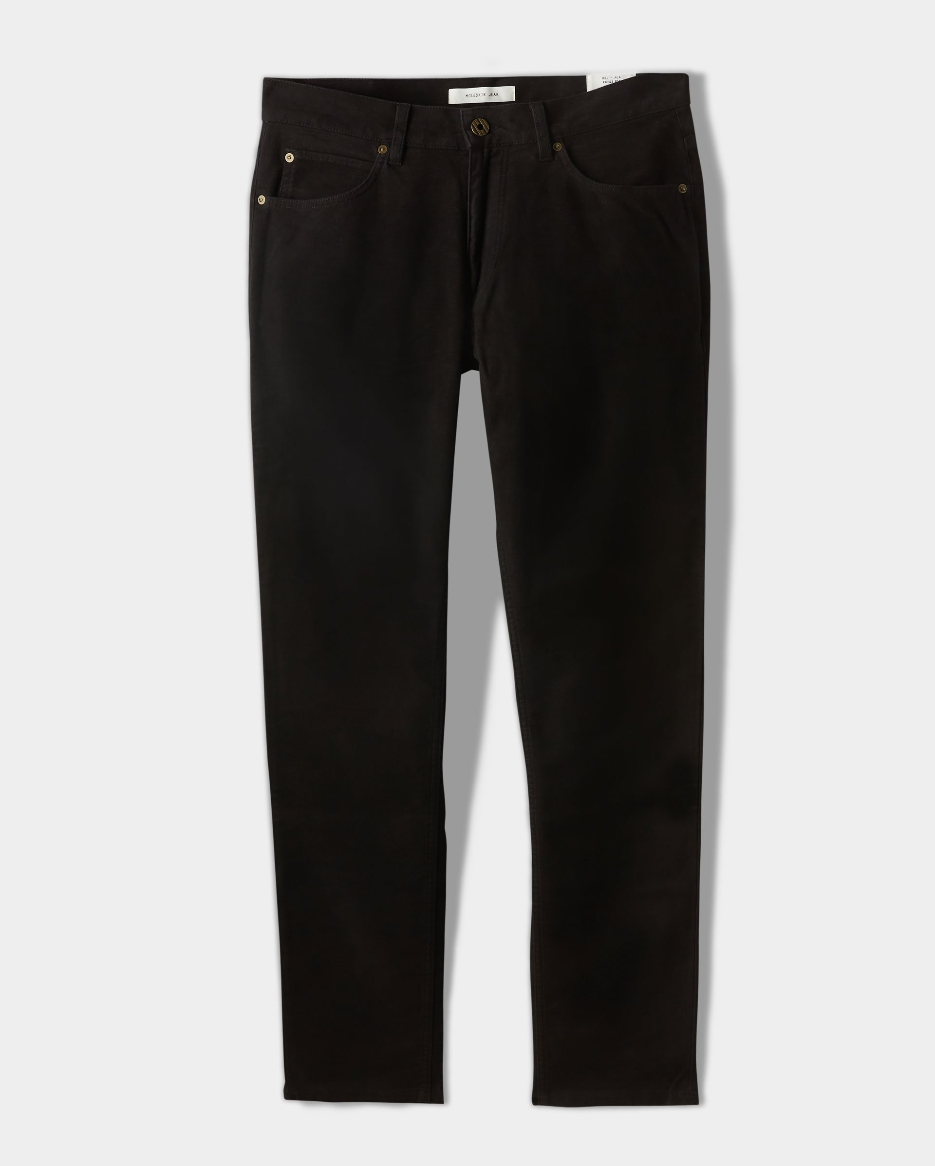 black jeans from billy reid on white background