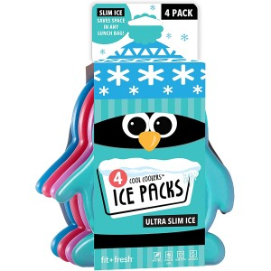 Fit + Fresh Cool Coolers Slim Ice Packs