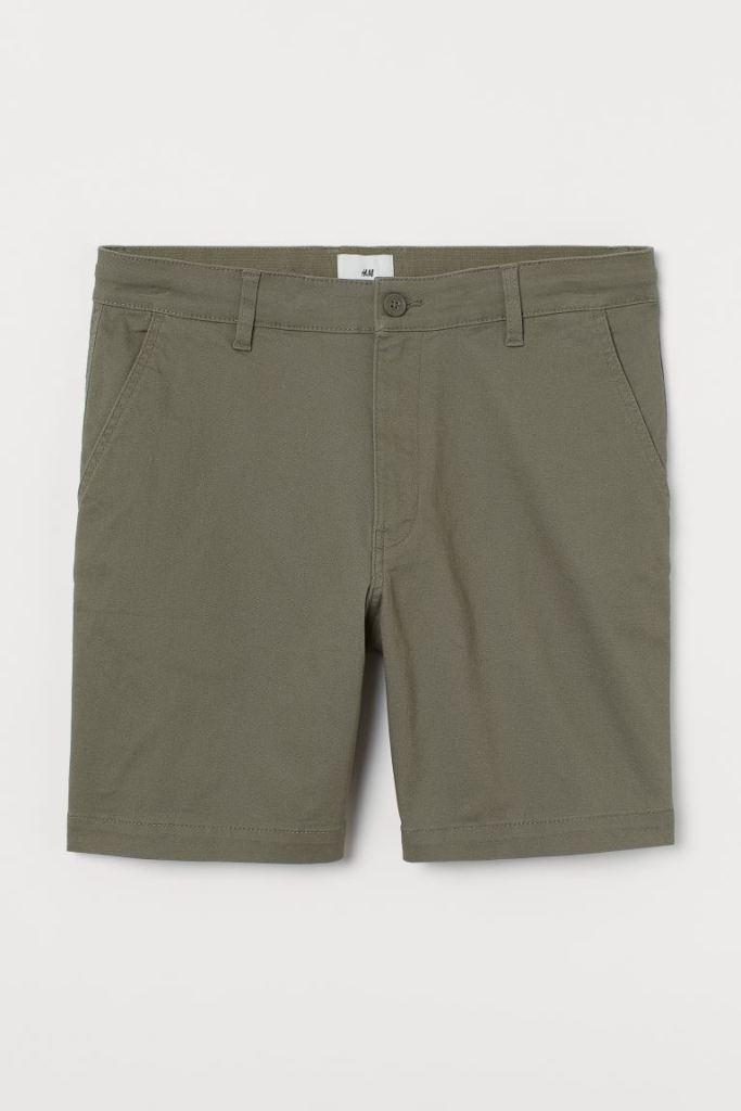 h and m cotton chino shorts