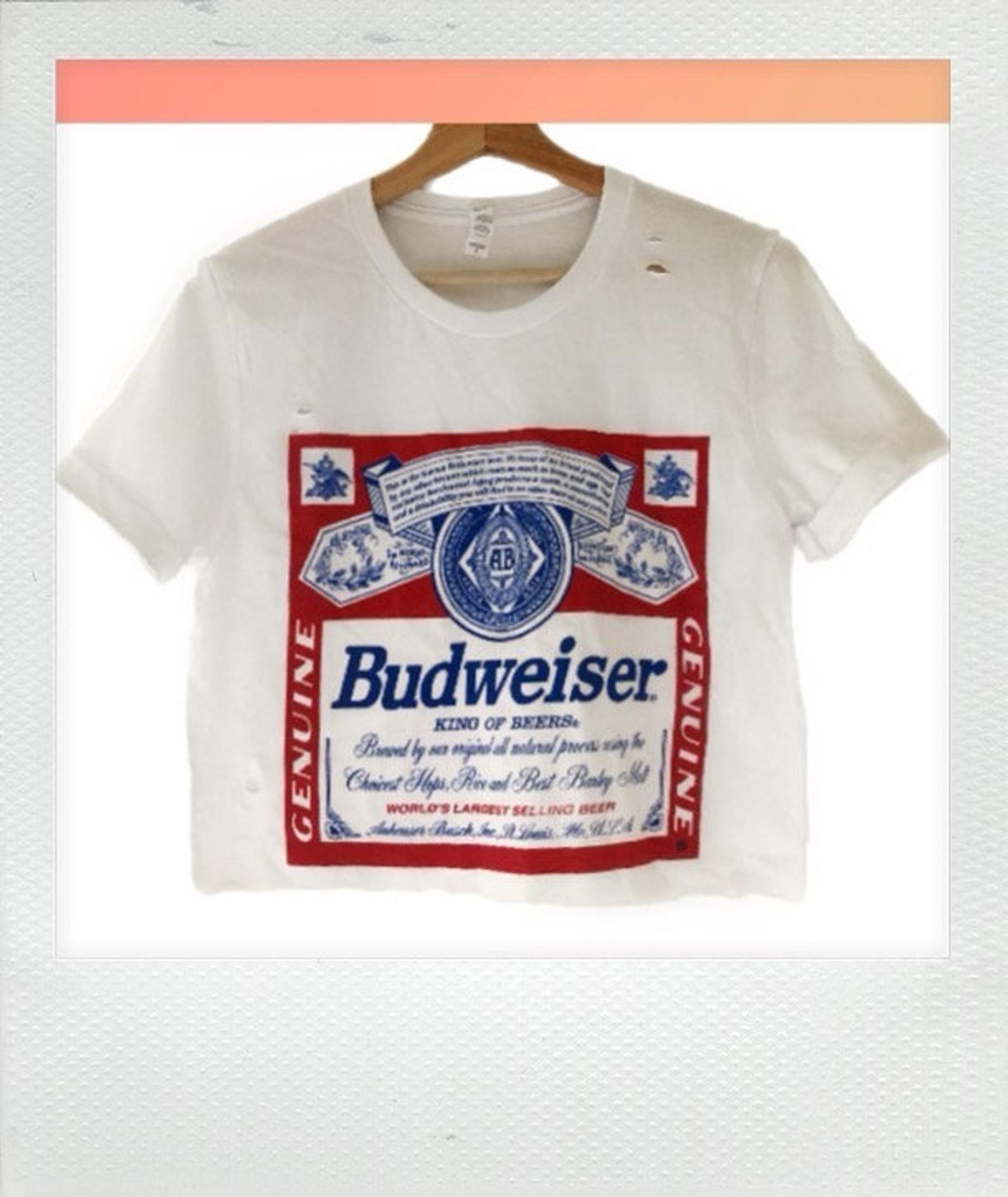 The Owners Creations Budweiser Crop Top
