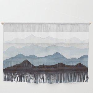 indigo mountains wall hanging, perfect Zoom setup