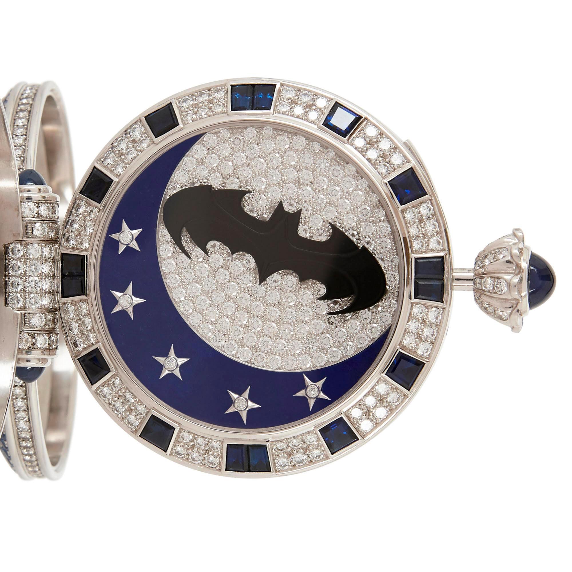 jewel encrusted batman watch