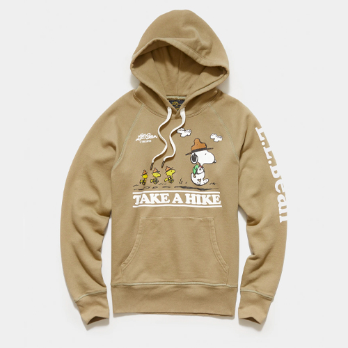 l.l.bean todd snyder peanuts hoodies