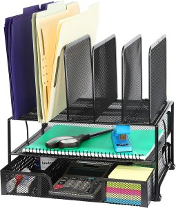 mesh desk organizer, perfect zoom setup