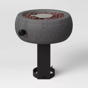round hammered outdoor tabletop fire pit, mini fire pits