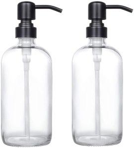pint jar glass soap dispenser, how to go plastic free