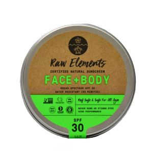 raw elements face and body sunscreen, how to go plastic free