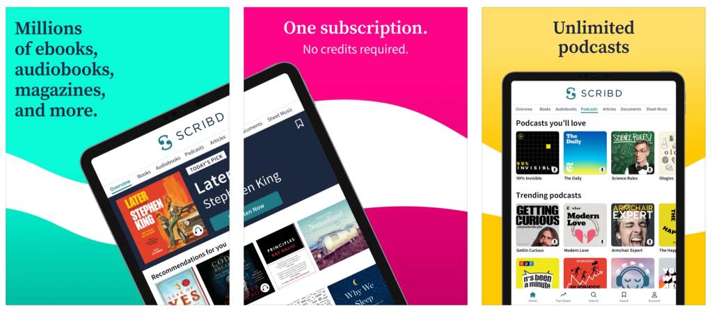 Best e-readers scribd app