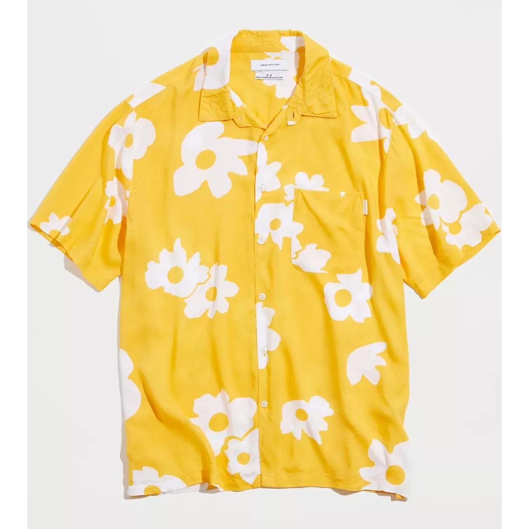 UO Daisy Print Button-Down Shirt