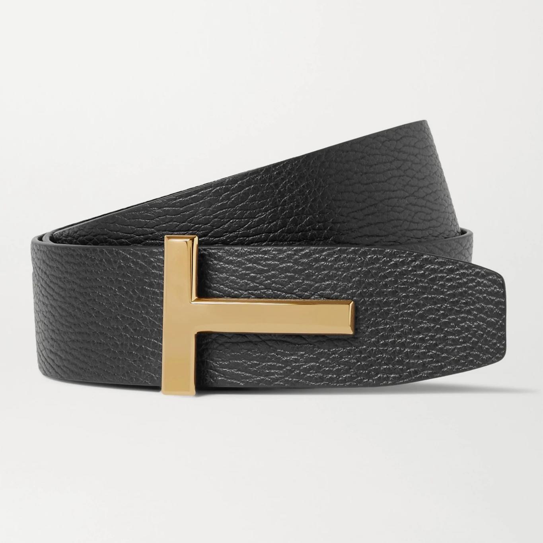 Tom Ford 4cm Reversible Full-Grain Leather Belt