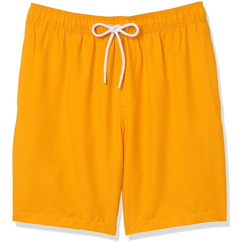 """Amazon Essentials Quick-Dry 9"""" Swim Trunk, (Color- Mango)"""