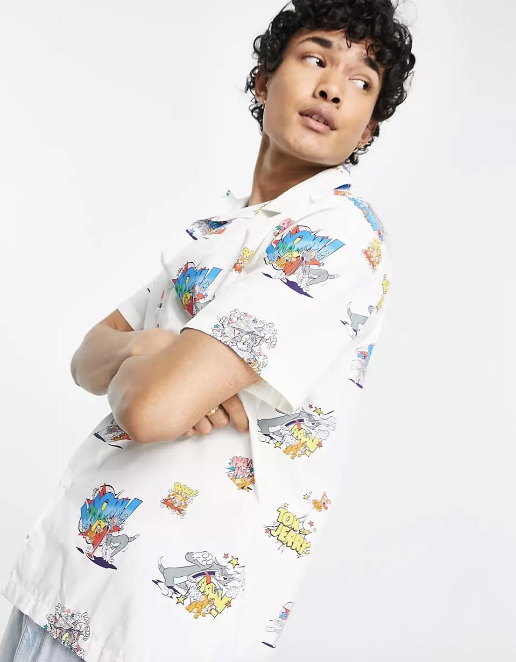 ASOS Tom & Jerry Relaxed Revere Shirt
