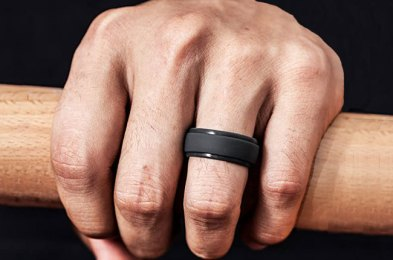 these silicone rings are a more convenient alternative to traditional (and pricier) wedding rings