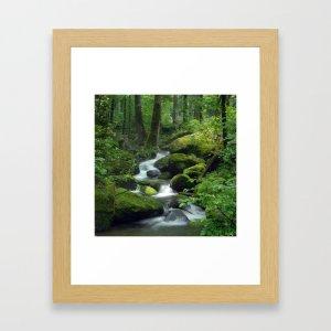 summer forest brook art print, Zoom backgrounds