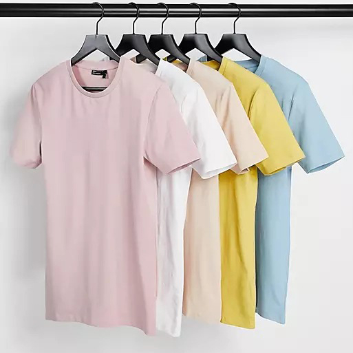 ASOS 5-Pack Organic Muscle Fit T-Shirt