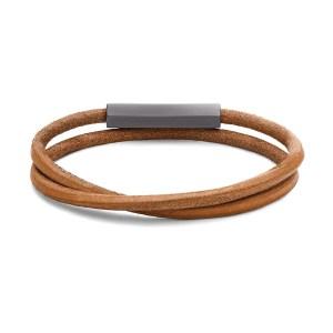 MVMT Double Leather Wrap, men's leather bracelets
