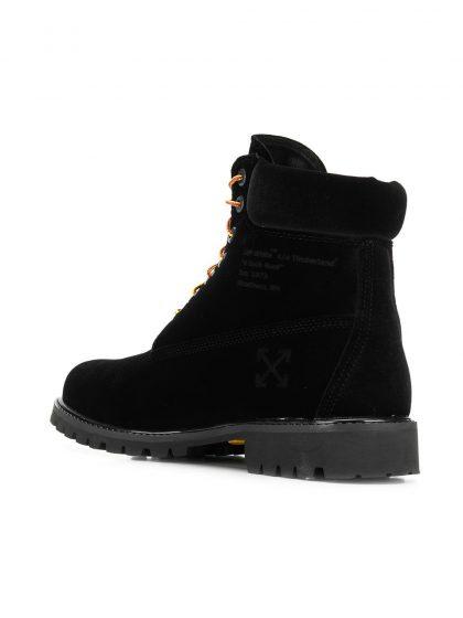 off-white x timberland velvet boot