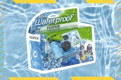 waterproof disposable camera on water