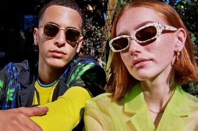 two people wearing Crap Eyewear