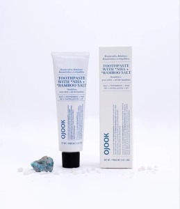 OJOOK toothpaste with nHa and bamboo salt, plastic free