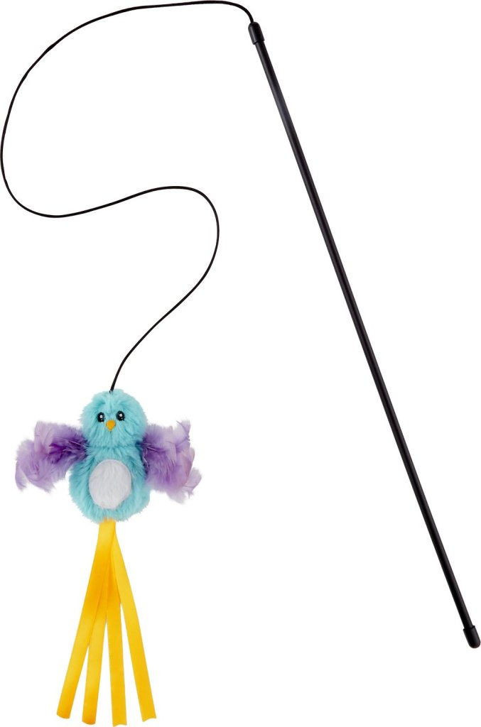 Frisco Bird Teaser with Feathers Cat Toy