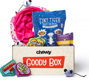 goody box toys and treats for cats