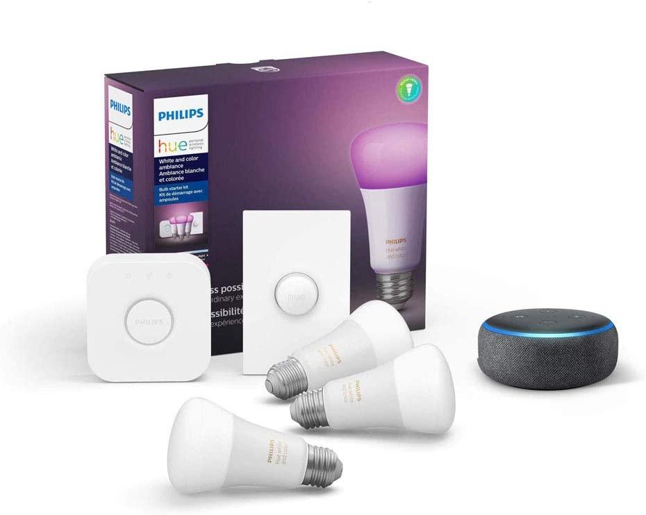 philips hue echo dot smart button starter kit cool tech gadgets