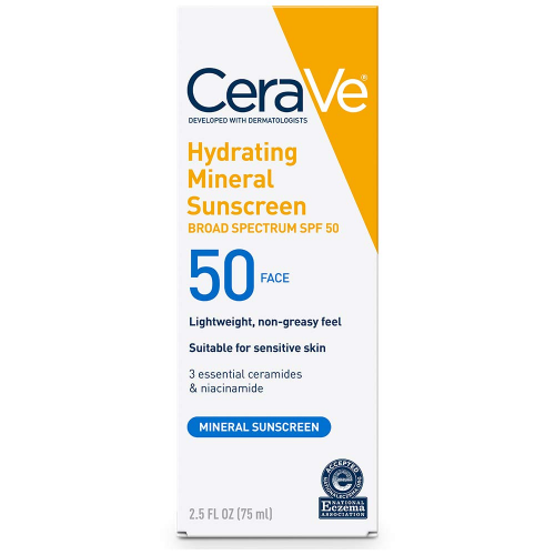 cerave hydrating mineral sunscreen