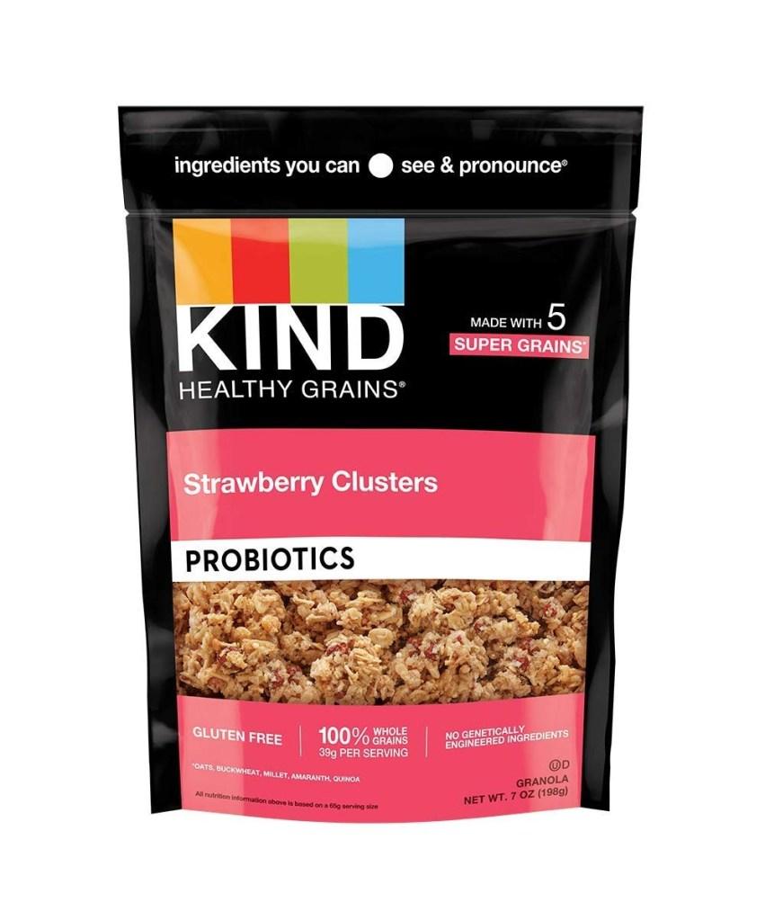 Kind Healthy Grains Strawberry Probiotic Clusters, Best Granola