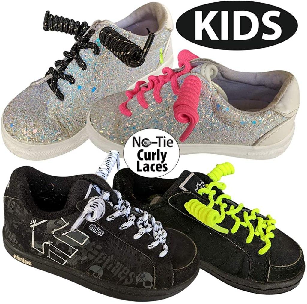 FootMatters Curly No Tie Shoe Laces
