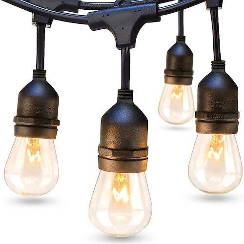 48-ft Addlon Outdoor Edison Vintage Bulbs