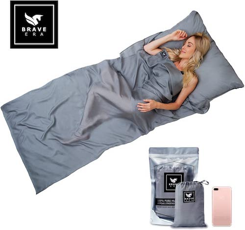 Brave Era 100% Silk Travel Sleep Sheet