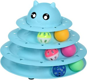 UPSKY Cat Toy Roller 3-Level Turntable Cat Toy