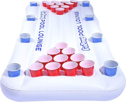 GoPong Pool Lounge Inflatable Floating Beer Pong Table
