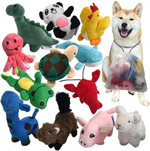 Legend Sandy Squeaky Plush Dog Toy Pack