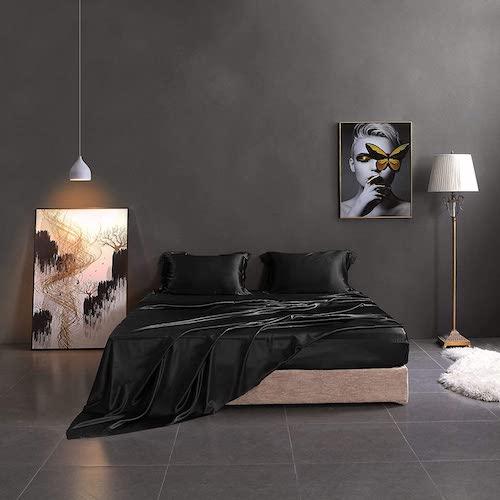 THXSILK 19mm 4-piece Mulberry Silk Bed Sheets, best silk sheets