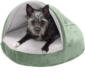 Furhaven Pet - Round Oval Calming Orthopedic Lounger,