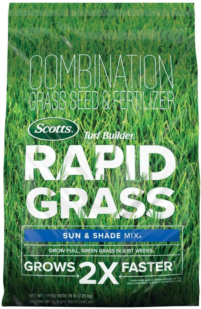 Scotts Turf Builder Rapid Grass Sun & Shade Mix, Revitalize Your Lawn