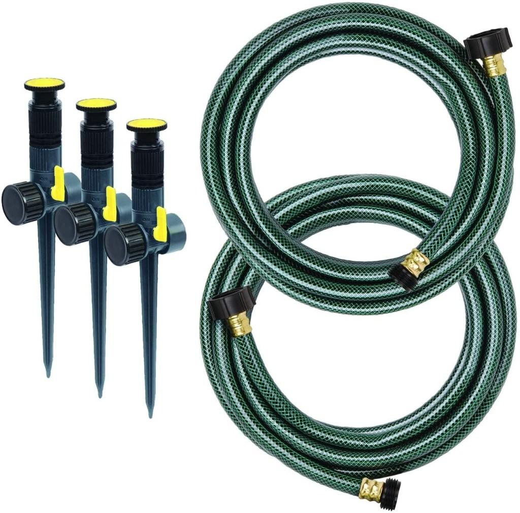 Melnor Multi-Adjustable Garden Above Ground Sprinkler System Kit, Revitalize your Lawn