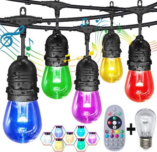 GANA 24/48-ft Color-Changing Outdoor String Lights