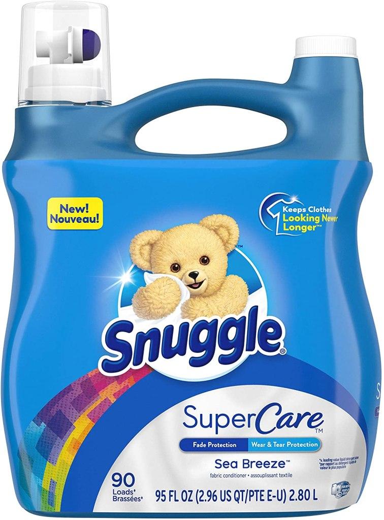 Snuggle SuperCare Liquid Fabric Softener, best fabric softeners
