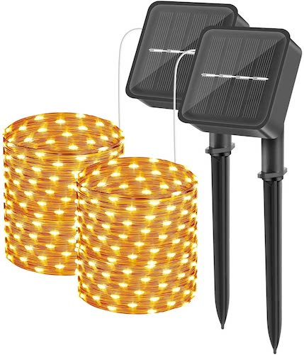 2-Pack Outdoor String Fairy Lights
