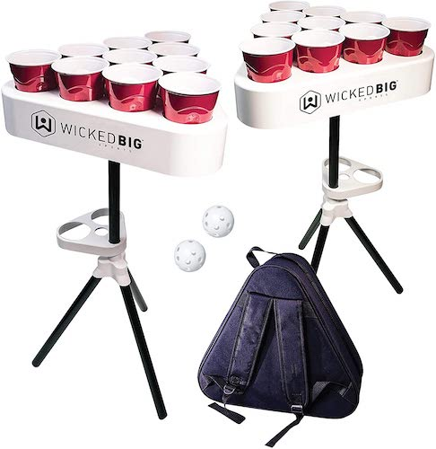 Versapong Portable Beer Pong Table Game with Backpack Carry Case