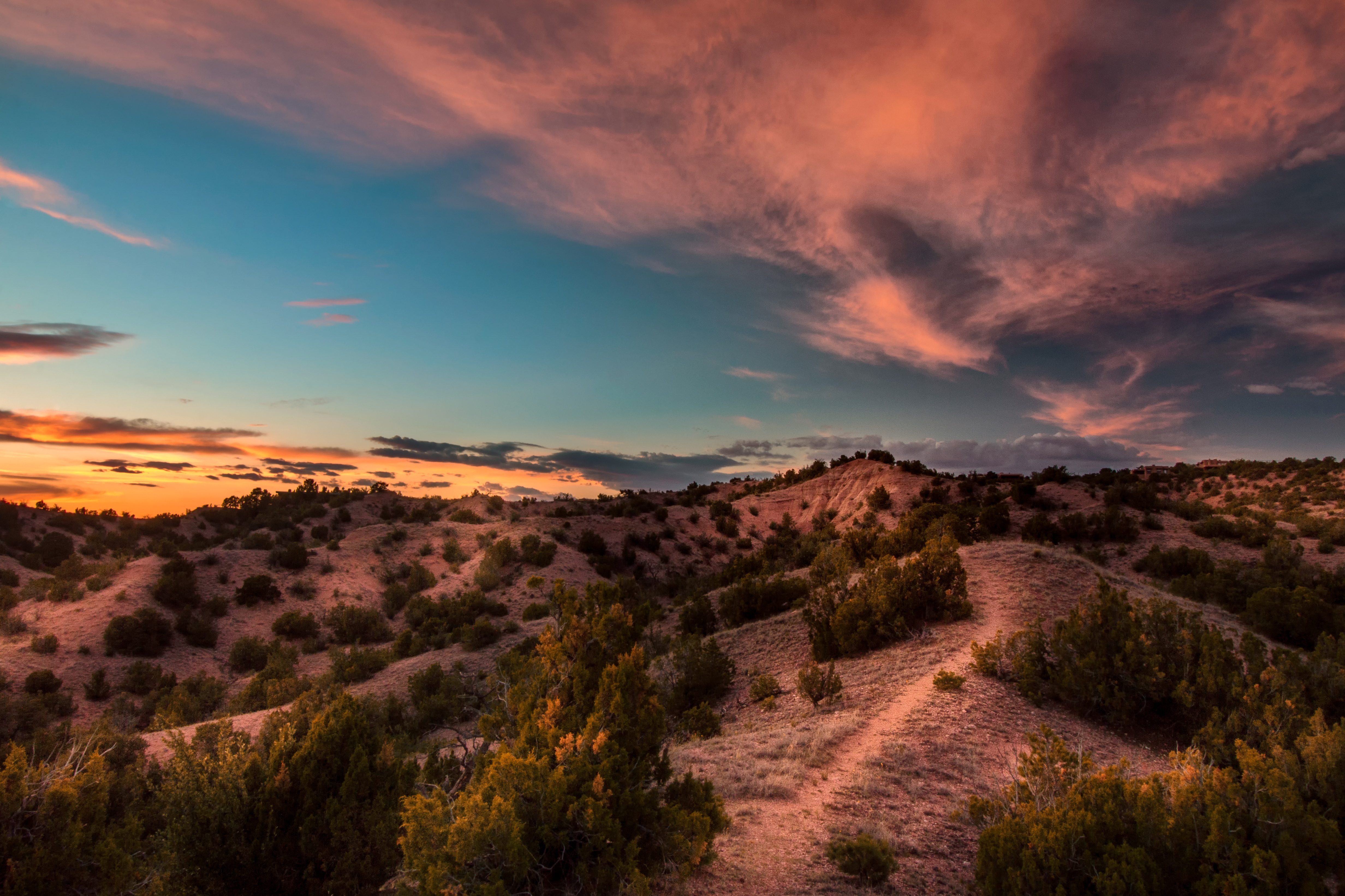 Sunset on the last night of my visit to Santa Fe. What a remarkable landscape!