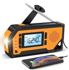 Aiworth Emergency Solar Hand-Crank Radio
