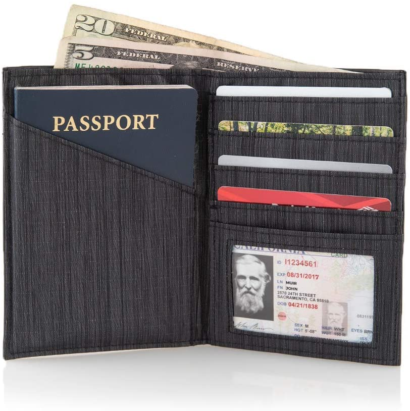 Allett Leather RFID Travel Passport Wallet, travel wallets