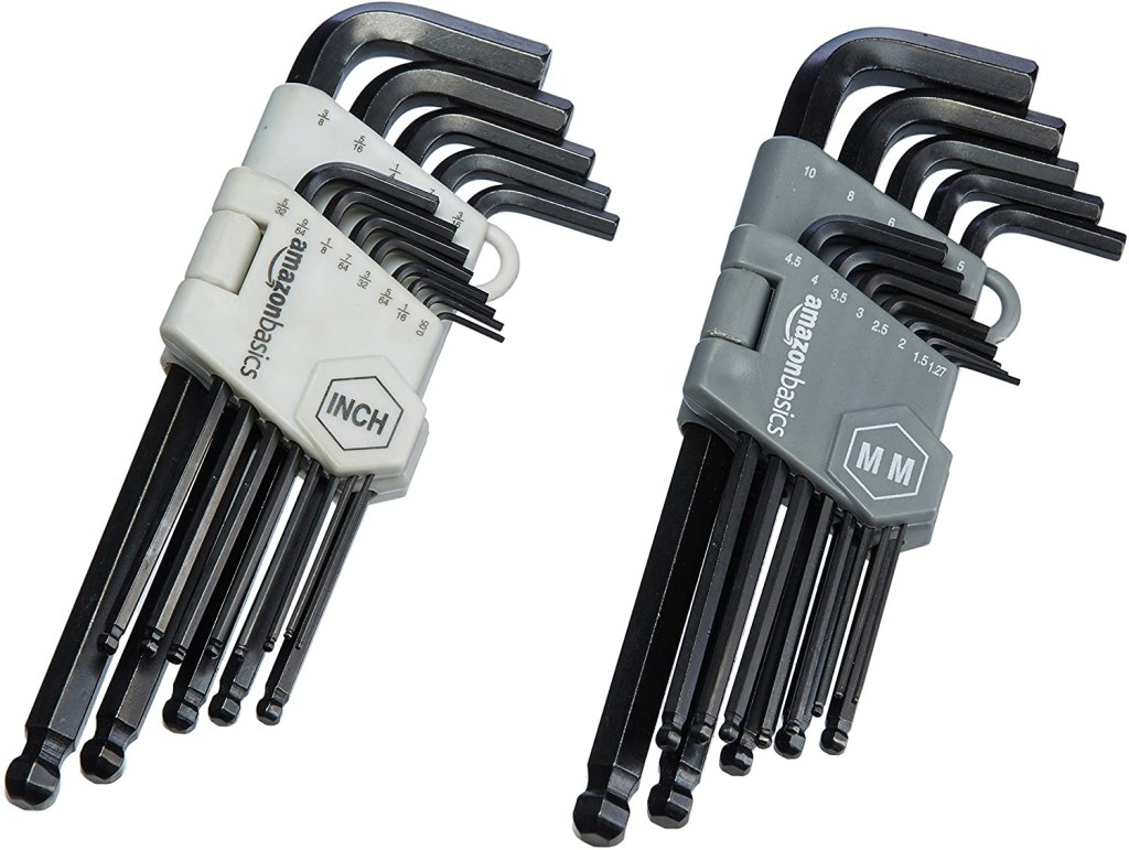 Amazon Basics Hex Key Allen Wrench Set with Ball End