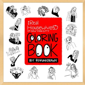 real housewives of ny coloring book