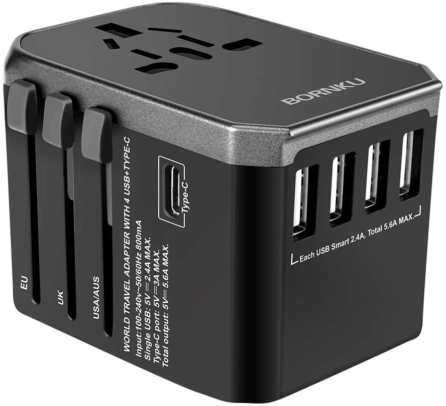 BORNKU Universal Travel Adapter
