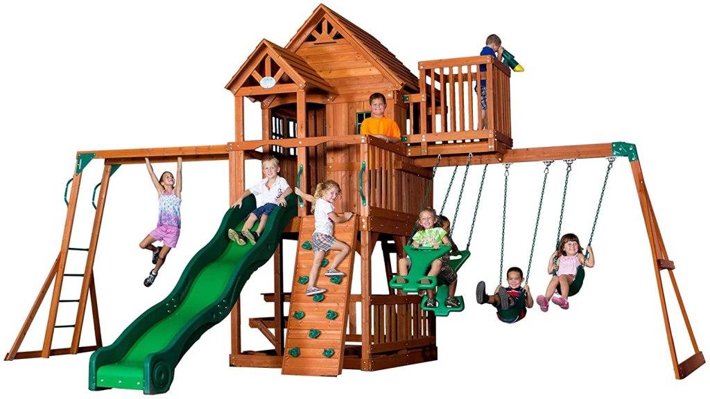 Backyard Discovery Skyfort II All Cedar Wood Swing Set, best outdoor playset